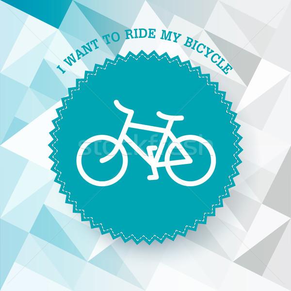 Vintage bicycle illustration. Vector. Stock photo © pashabo