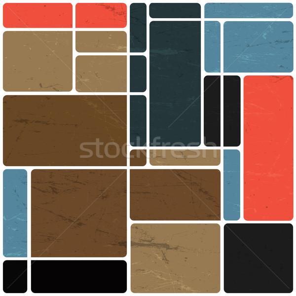 Resumen retro bloques diseno colorido vector Foto stock © pashabo