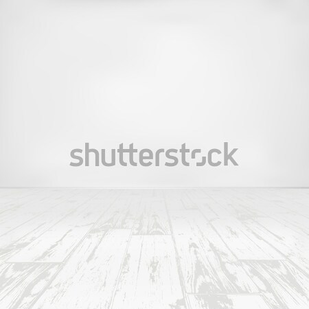 Boş beyaz oda ahşap dizayn Stok fotoğraf © pashabo