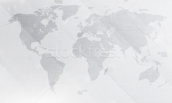 Abstract light grey world map background digital global techno add to lightbox download comp gumiabroncs Images