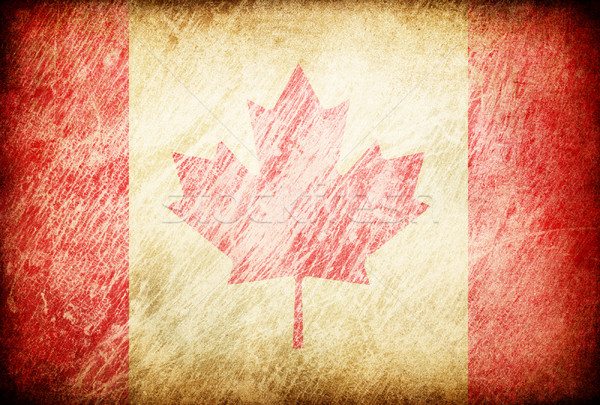 Grunge rubbed flag series of backgrounds. Canada. Stock photo © pashabo