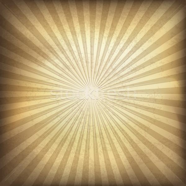Retro brown sunburst background. Vector illustration, EPS10. Stock photo © pashabo