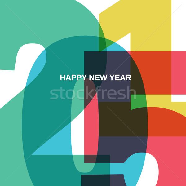 Happy New 2015 Year Stock photo © pashabo