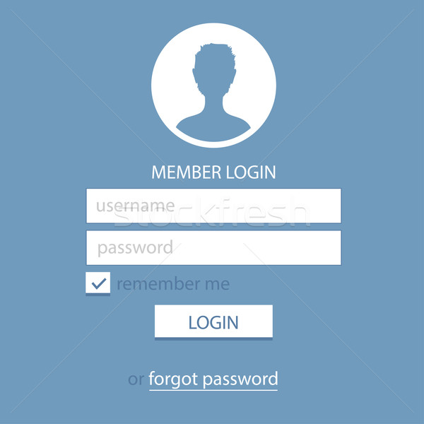 Member Login Template. Simple and Flat. Stock photo © pashabo