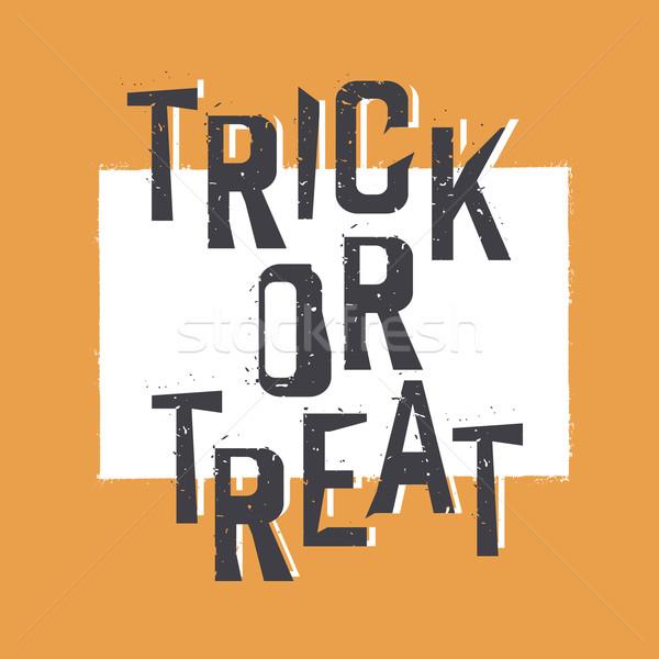 Trick or treat. Halloween design element Stock photo © pashabo