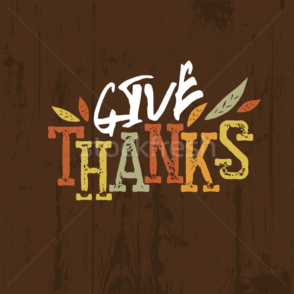 Happy Thanksgiving design. For holiday greeting cards designs  Stock photo © pashabo