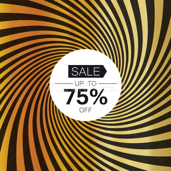 Sale card template. On golden rays background Stock photo © pashabo