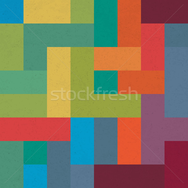 Colorful brick geometric pattern. Abstract background for design Stock photo © pashabo