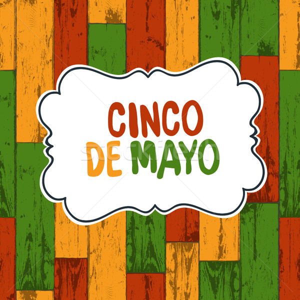 Stock Photo Vector Illustration Cinco De Mayo 5 Of May Holiday Background Wooden Colored