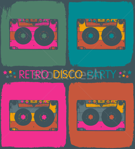 Retro disco stijl vector eps8 Stockfoto © pashabo