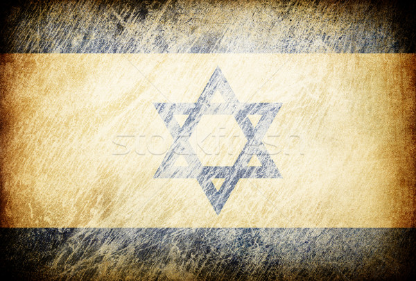 Grunge rubbed flag series of backgrounds. Israel. Stock photo © pashabo