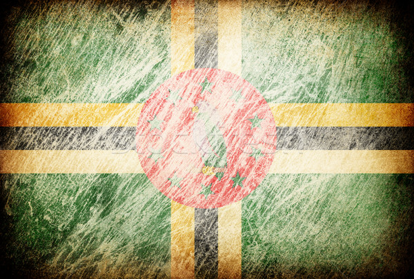 Grunge rubbed flag series of backgrounds. Dominica. Stock photo © pashabo