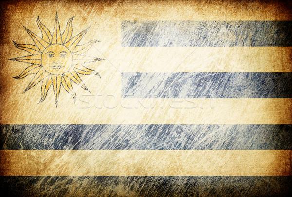 Grunge zászló hátterek Uruguay textúra digitális Stock fotó © pashabo