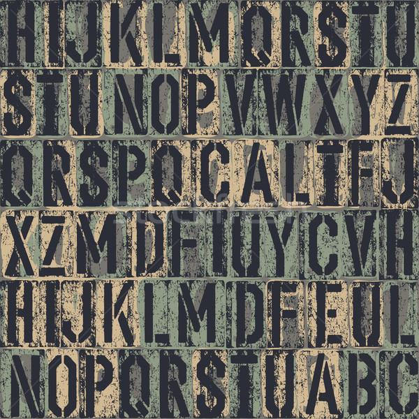 letterpress seamless background. Vector, EPS8 Stock photo © pashabo