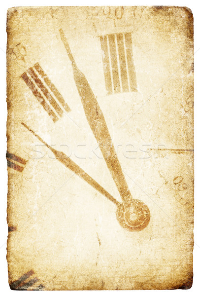 Antique pocket clock face. Grunge isolated background. Stock photo © pashabo