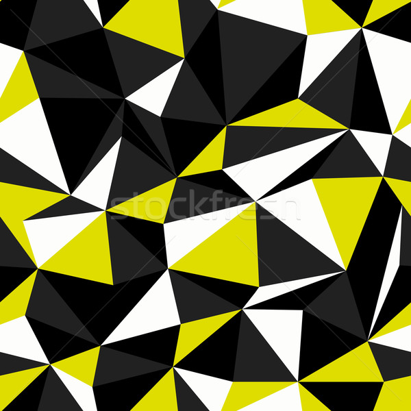 Black and Yellow Colors Triangle Seamless Pattern Stock photo © pashabo