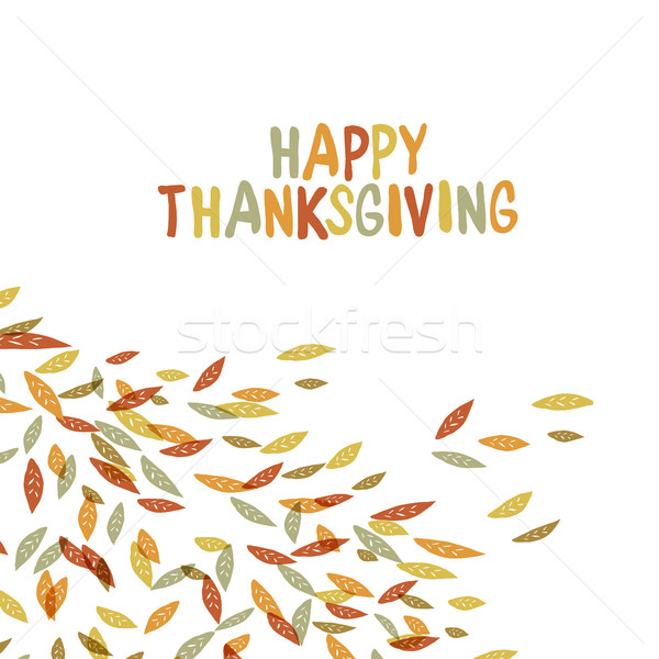 Happy Thanksgiving postcard design. Autumn fall illustration. Fo Stock photo © pashabo