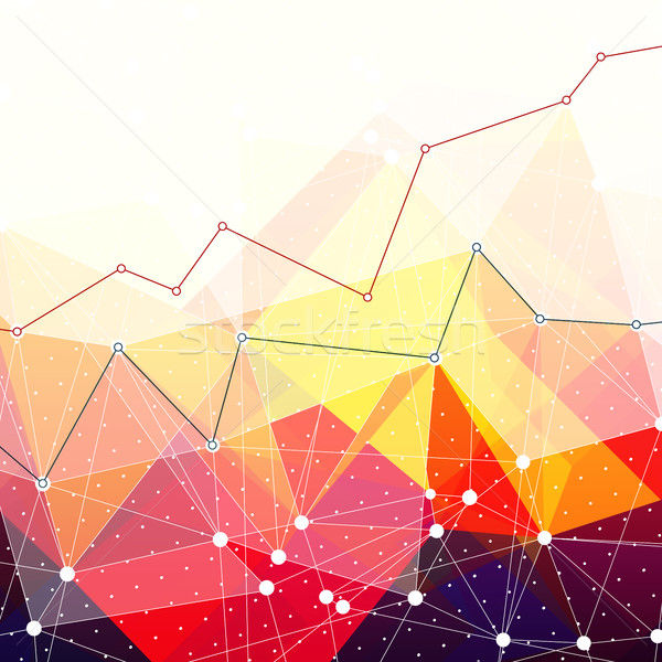 Abstract colorful triangles background. Business chart graph wit Stock photo © pashabo