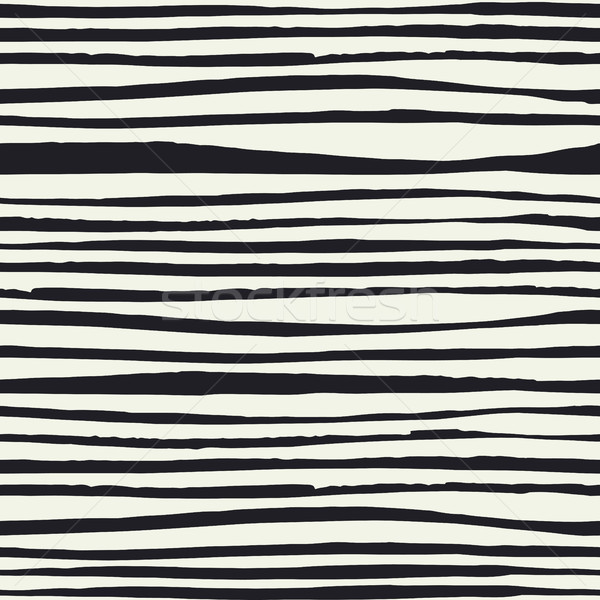 Black Brush lines. Seamless pattern. Black hand drawn bold lines Stock photo © pashabo