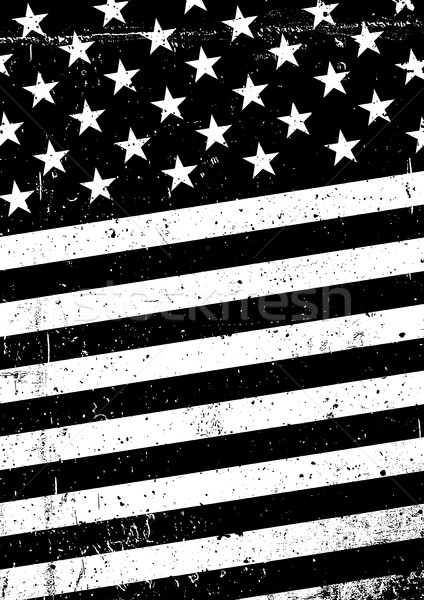 Grunge black and white United States of America flag. Abstract A Stock photo © pashabo