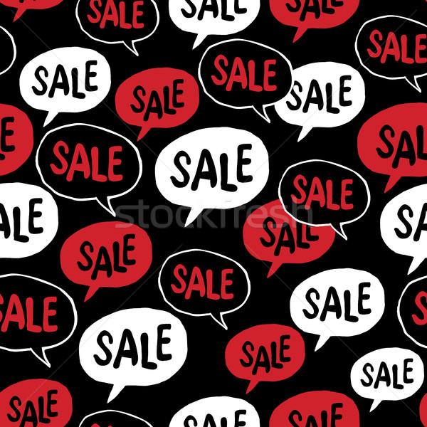 Black friday balão de fala venda palavra publicidade Foto stock © pashabo