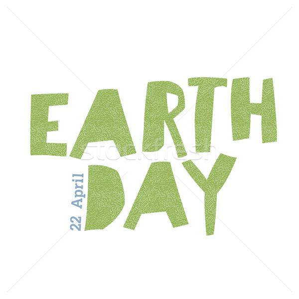Earth day ecology logotype template.  Stock photo © pashabo