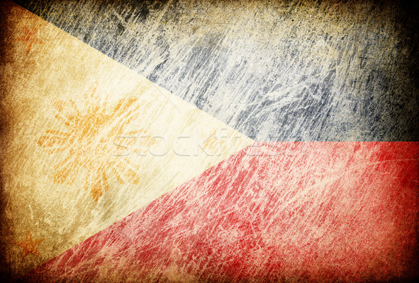 Grunge rubbed flag series of backgrounds. Philippines. Stock photo © pashabo