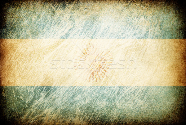Grunge rubbed flag series of backgrounds. Argentina. Stock photo © pashabo
