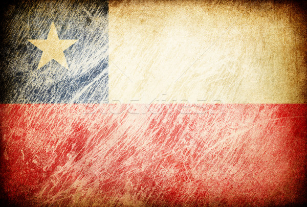 Grunge rubbed flag series of backgrounds. Chile. Stock photo © pashabo