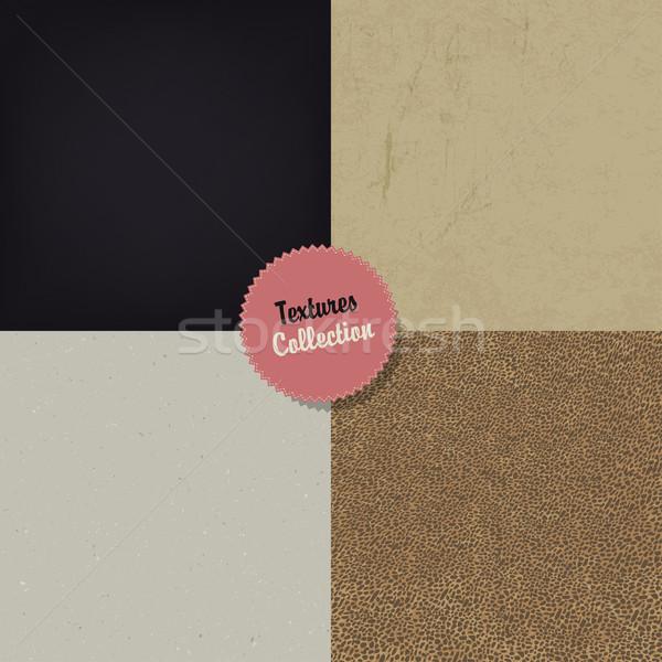 Сток-фото: коллекция · четыре · различный · текстуры · вектора · eps10