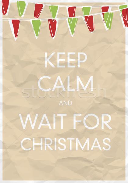 Keep Calm And Wait for Christmas Stock photo © pashabo
