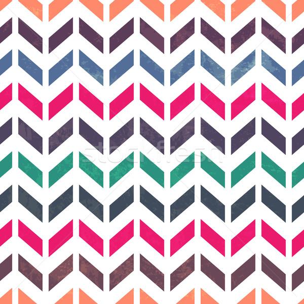 Chevron pattern. Colorful, grunge and seamless. Grunge effects c Stock photo © pashabo