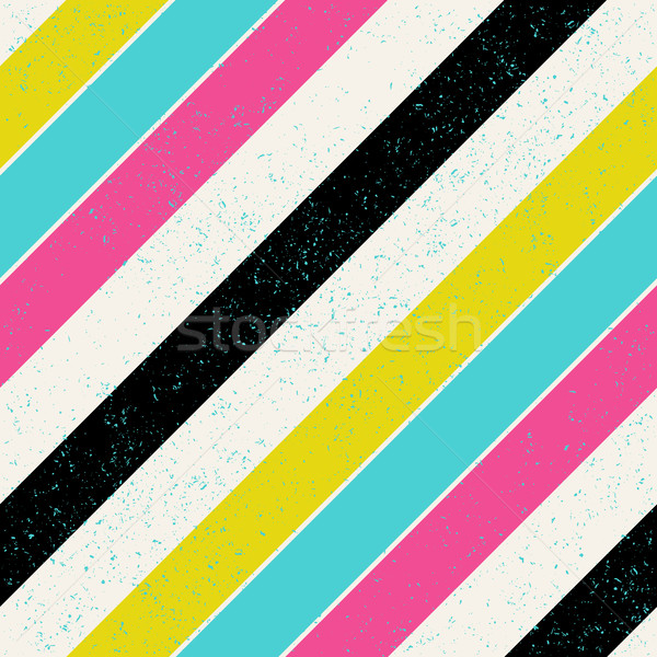 Retro colors diagonal lines background. Pop-art style bright col Stock photo © pashabo