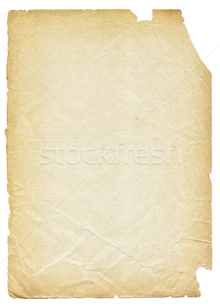 Old torn paper isolated on white background. Stock photo © pashabo