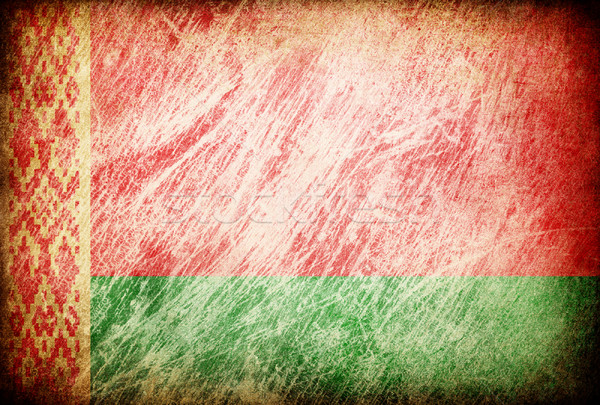 Grunge rubbed flag series of backgrounds. Belarus. Stock photo © pashabo