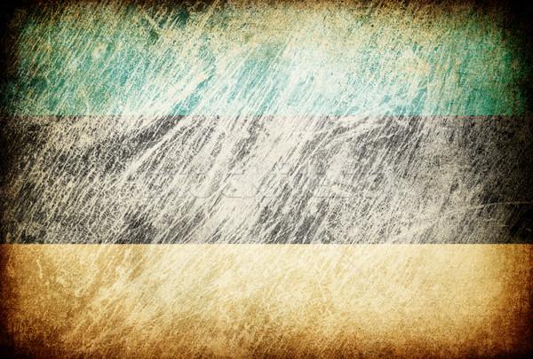 Grunge rubbed flag series of backgrounds. Estonia. Stock photo © pashabo