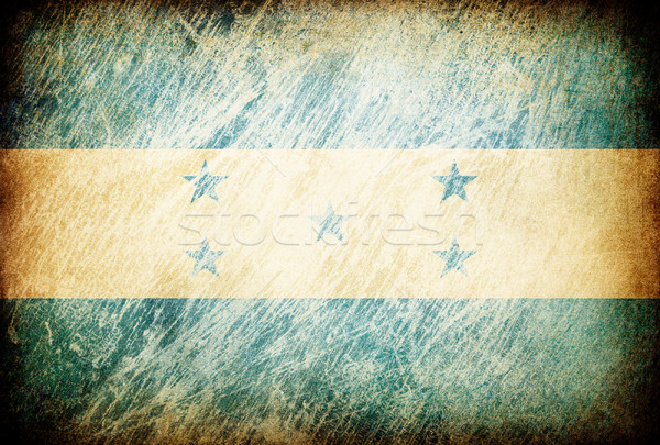Grunge rubbed flag series of backgrounds. Honduras. Stock photo © pashabo