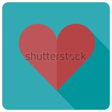 Foto stock: Coração · ícone · vetor · amor · abstrato · fundo