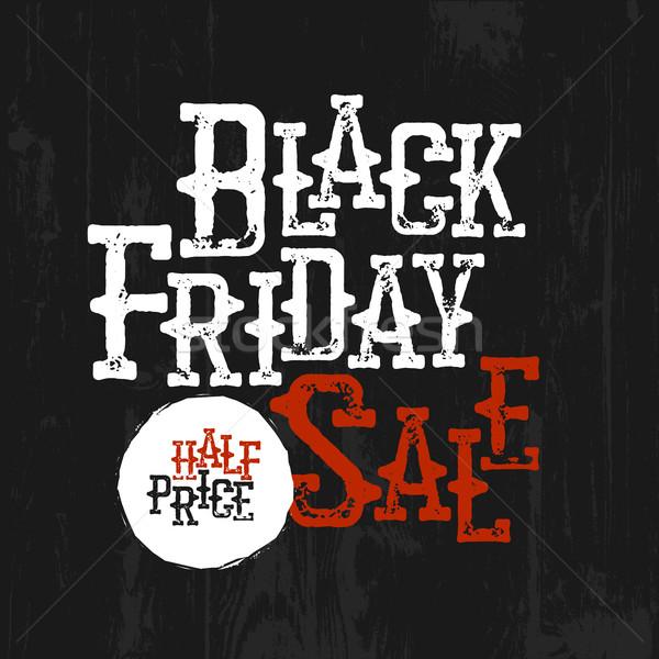 черная пятница продажи типографики Label Запад Сток-фото © pashabo