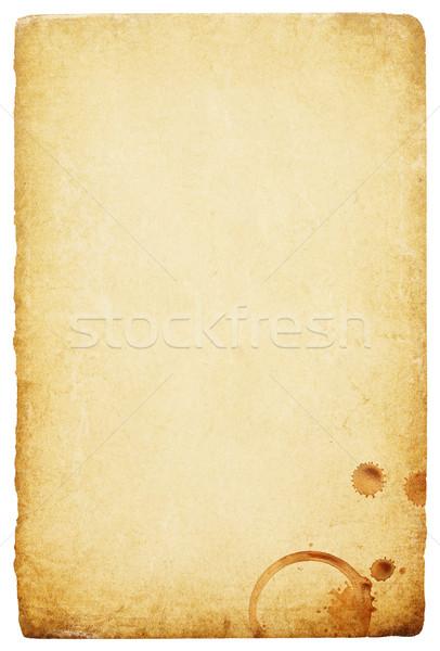 Vintage papier koffie ringen vlek abstract Stockfoto © pashabo