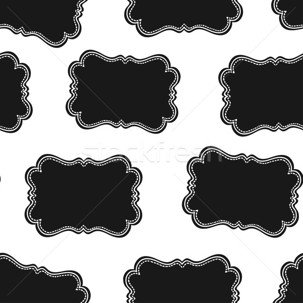 Seamless Wild West Labels Pattern. Vector Stock photo © pashabo