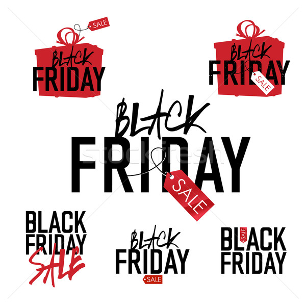 Black Friday sales Advertising Labels Collection. Stock photo © pashabo