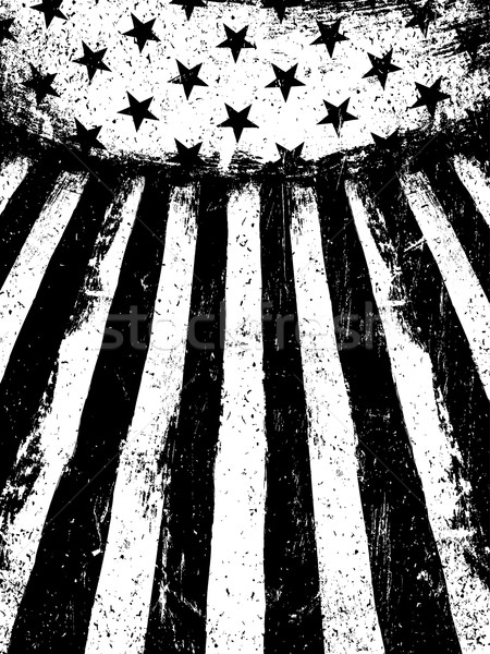 Monochrome Negative Photocopy American Flag Background. Grunge A Stock photo © pashabo