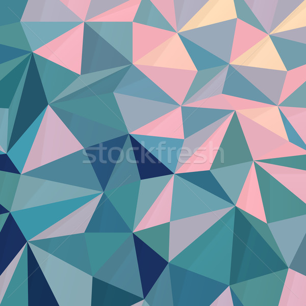 Triangular Low Poly Pink-Green Background Stock photo © pashabo