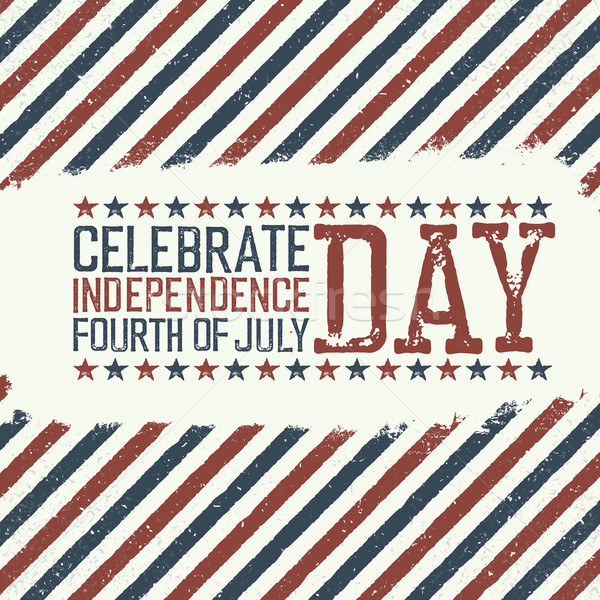 Greeting card for fourth of july holiday. Independence day celeb Stock photo © pashabo