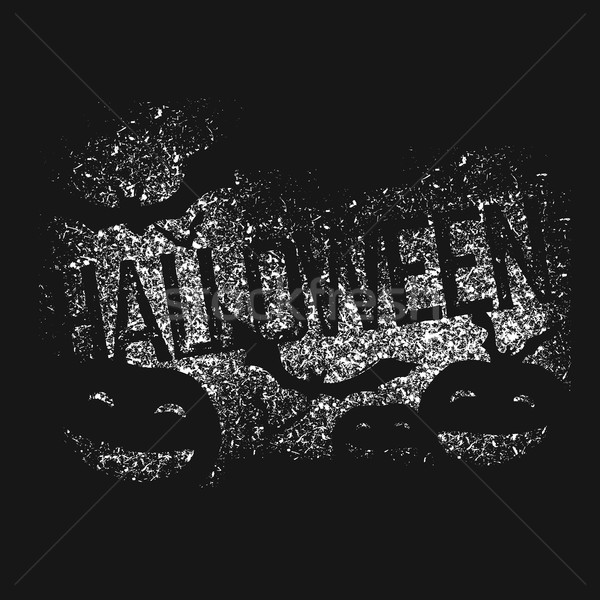 Halloween abstract logo. Halloween party isolated typography for Stock photo © pashabo