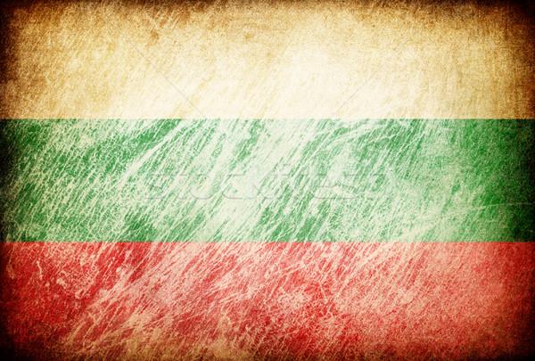 Grunge rubbed flag series of backgrounds. Bulgaria. Stock photo © pashabo