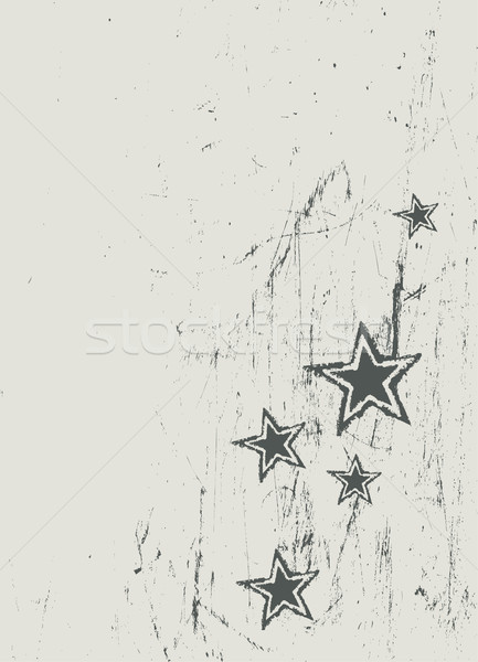Stars on scratched beige texture. Vector Stock photo © pashabo