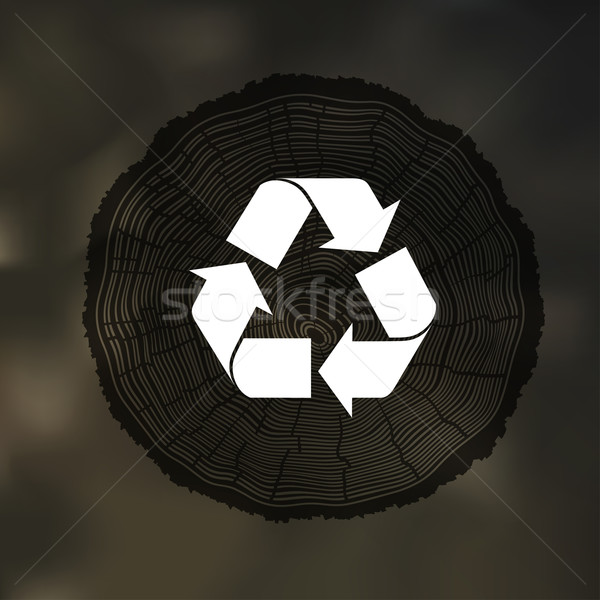 Tree Rings background with Reuse Symbol. Template for annual rep Stock photo © pashabo