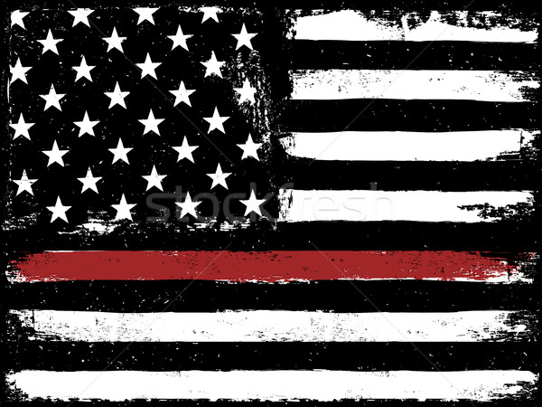 Tattered Flag Red Line Fire Stock photo © pashabo